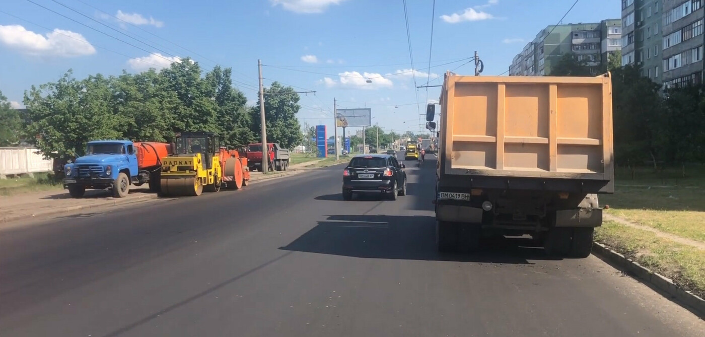 У Сумах продовжується ремонт доріг, фото-1