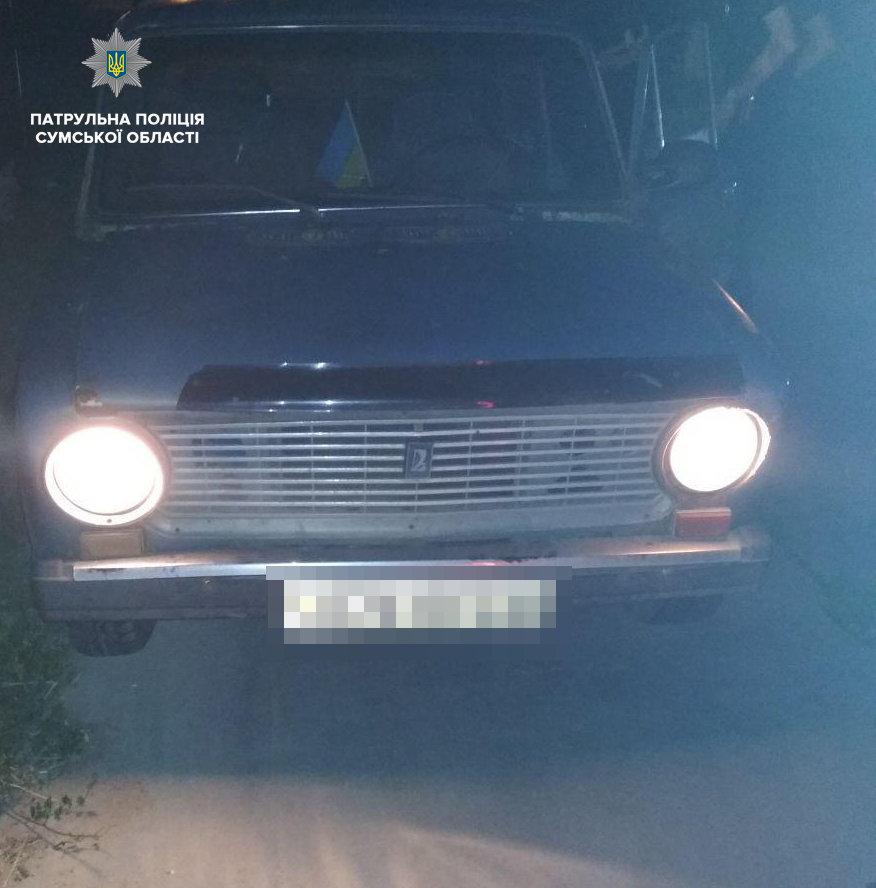 У Сумах зупинили керманича без водійського посвідчення на автівці з ознаками підробки номера кузова, фото-2