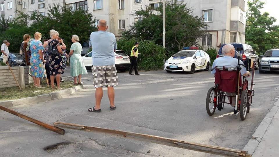 У Сумах жителі будинку 7 на Лушпи перекрили дорогу, фото-1