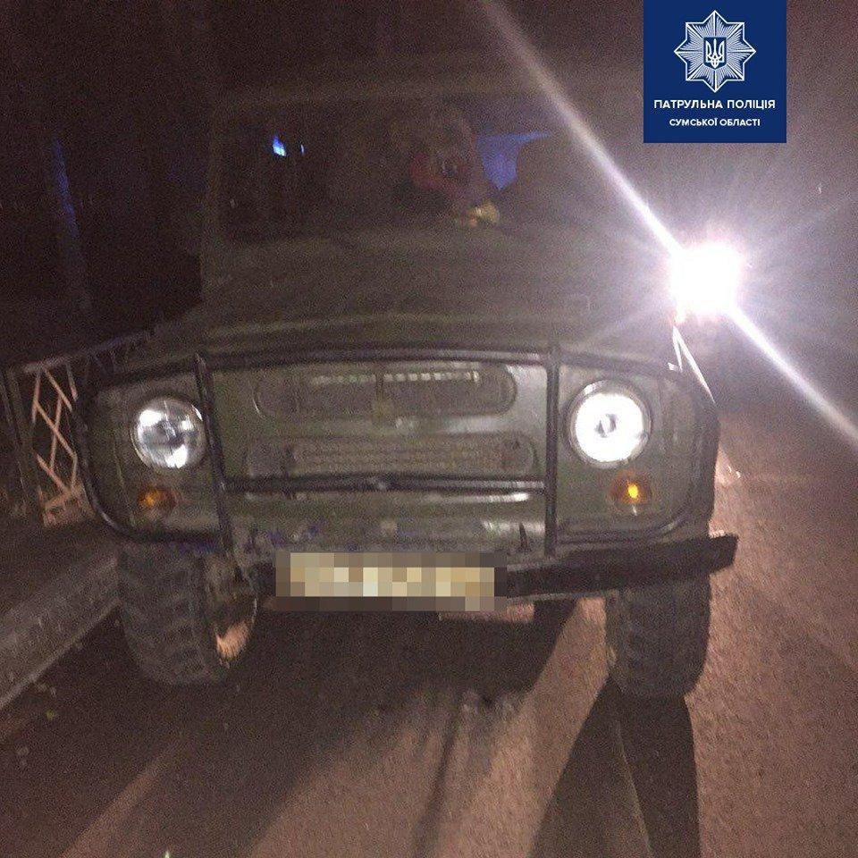 На Сумщині зупинили водія в стані алкогольного сп'яніння без права керування, фото-1