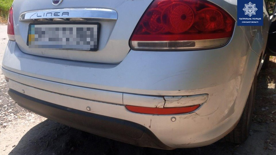 У Сумах розшукали водія легковика, який вчинив ДТП та залишив місце пригоди, фото-1