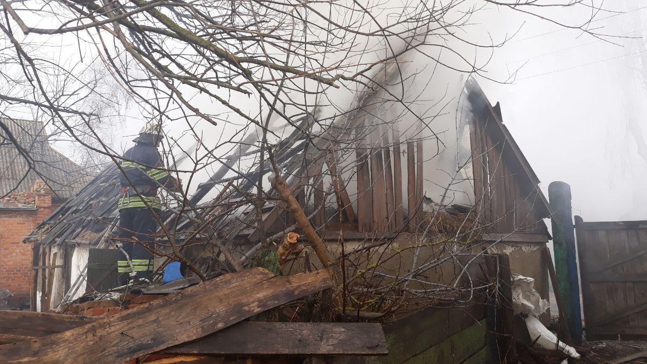 На Сумщині рятувальники ліквідували загоряння господарчої споруди, фото-1