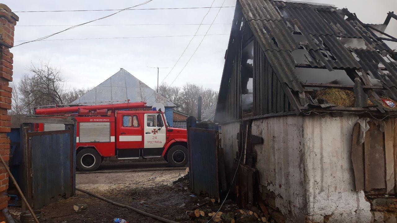 На Сумщині рятувальники ліквідували загоряння господарчої споруди, фото-2