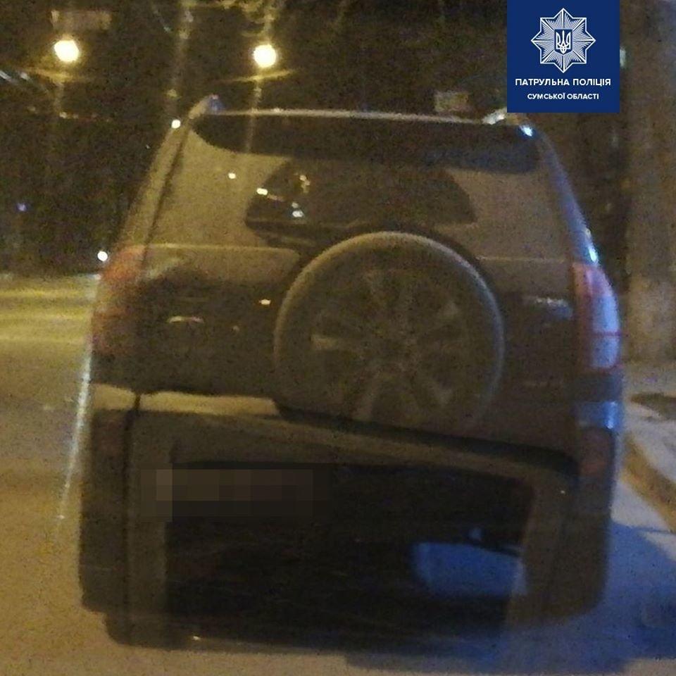 У Сумах нетверезий водій намагався бути непомітним, фото-1