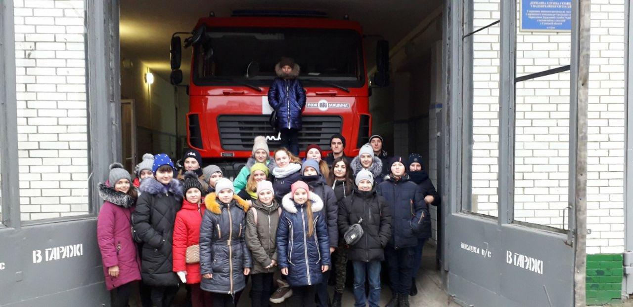У Сумах школярі завітали до музею рятувальної служби Сумщини , фото-1