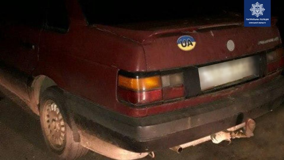 На Сумщині водій втретє за рік сів за кермо в нетверезому стані, фото-1