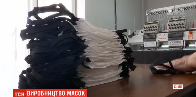 У Сумах підприємство замість спецодягу почало шити дефіцитні медичні маски, фото-2