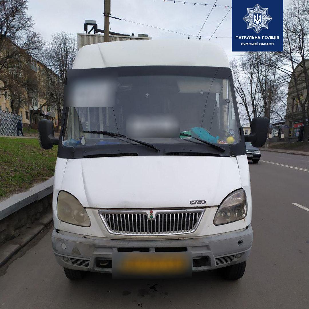 У Сумах патрульні притягли до відповідальності водія маршрутки, який перевозив 19 пасажирів, фото-1