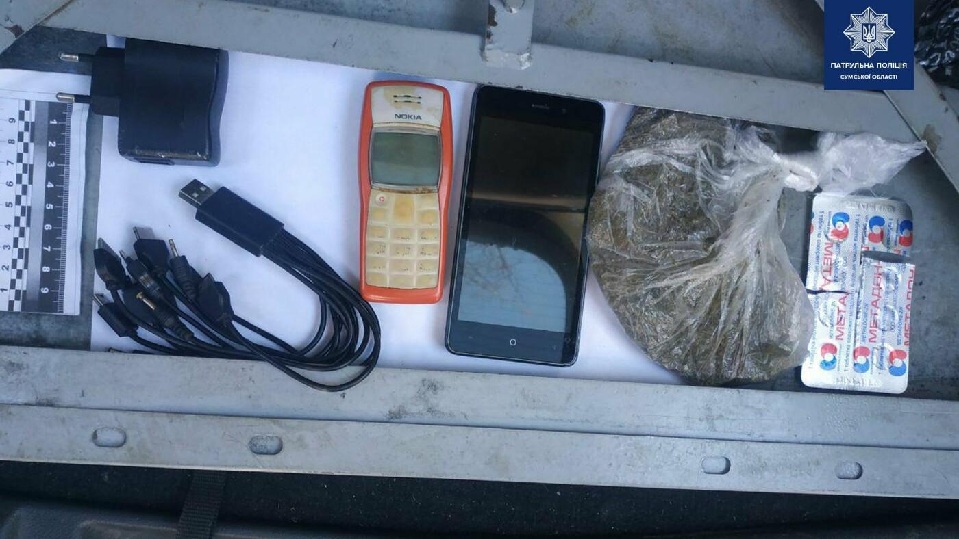 Біля сумської колонії затримали наркопостачальників, фото-1