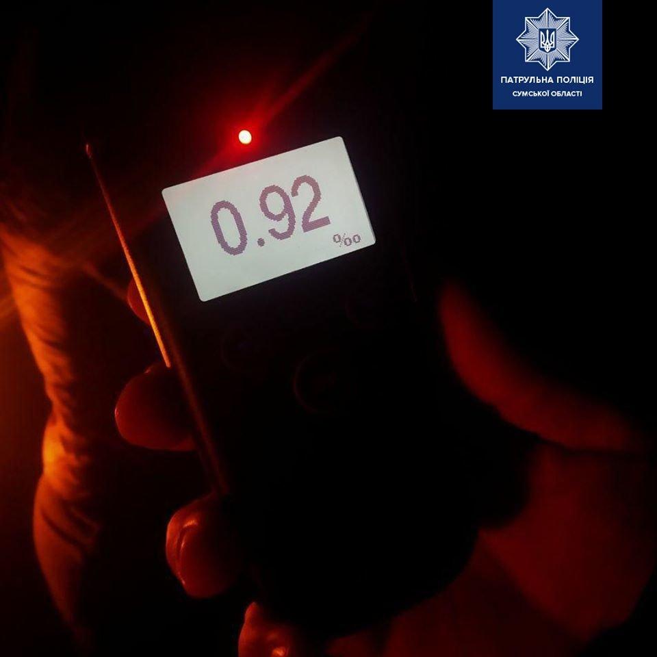 На Сумщині зупинили нетверезу 32-річну водійку , фото-1