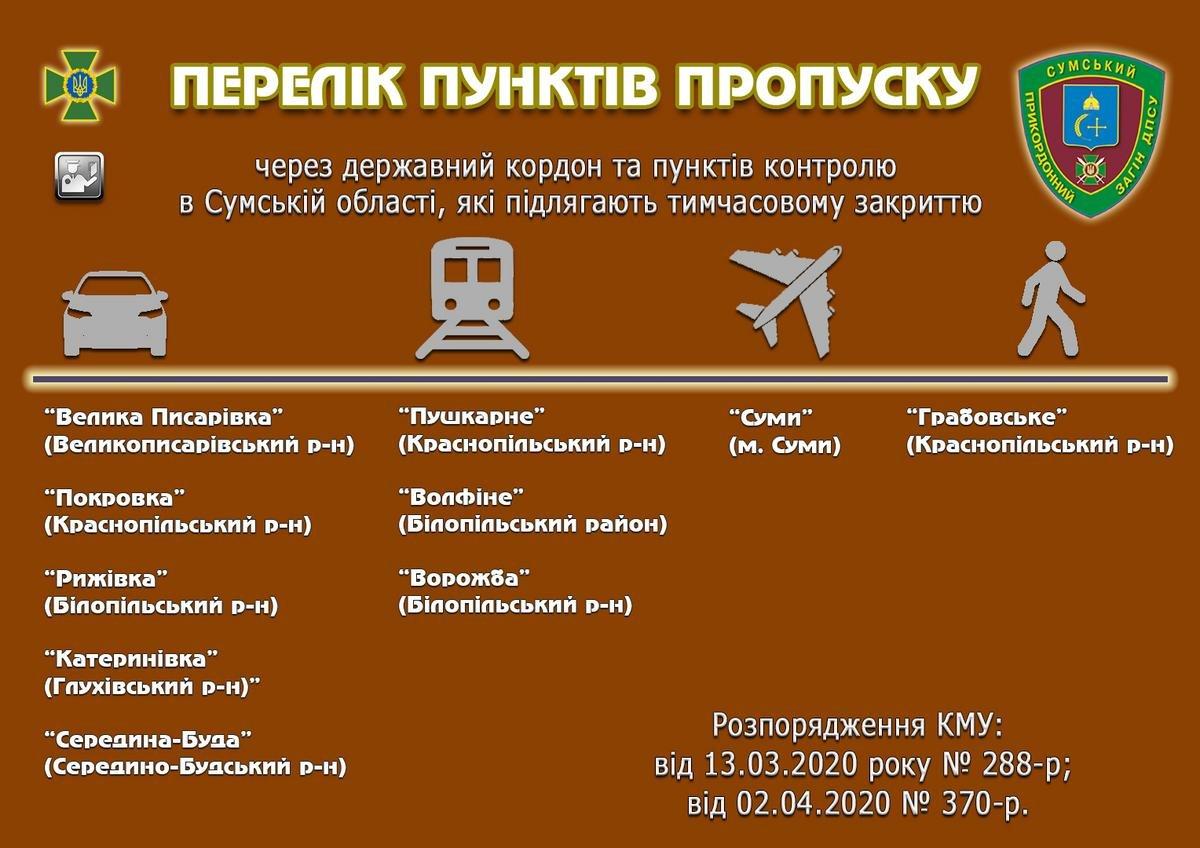 Від завтра перетнути кордон на авто в Сумській області можна буде лише через «Юнаківку» та «Бачівськ», фото-1