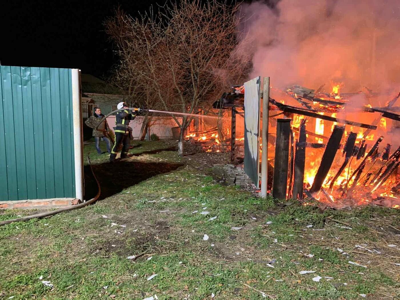 За минулу добу на Сумщині вогнеборці двічі ліквідовували загоряння господарчих споруд, фото-1