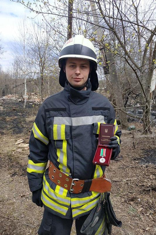 Рятувальник з Сумщини отримав нагороду від Президента, фото-1