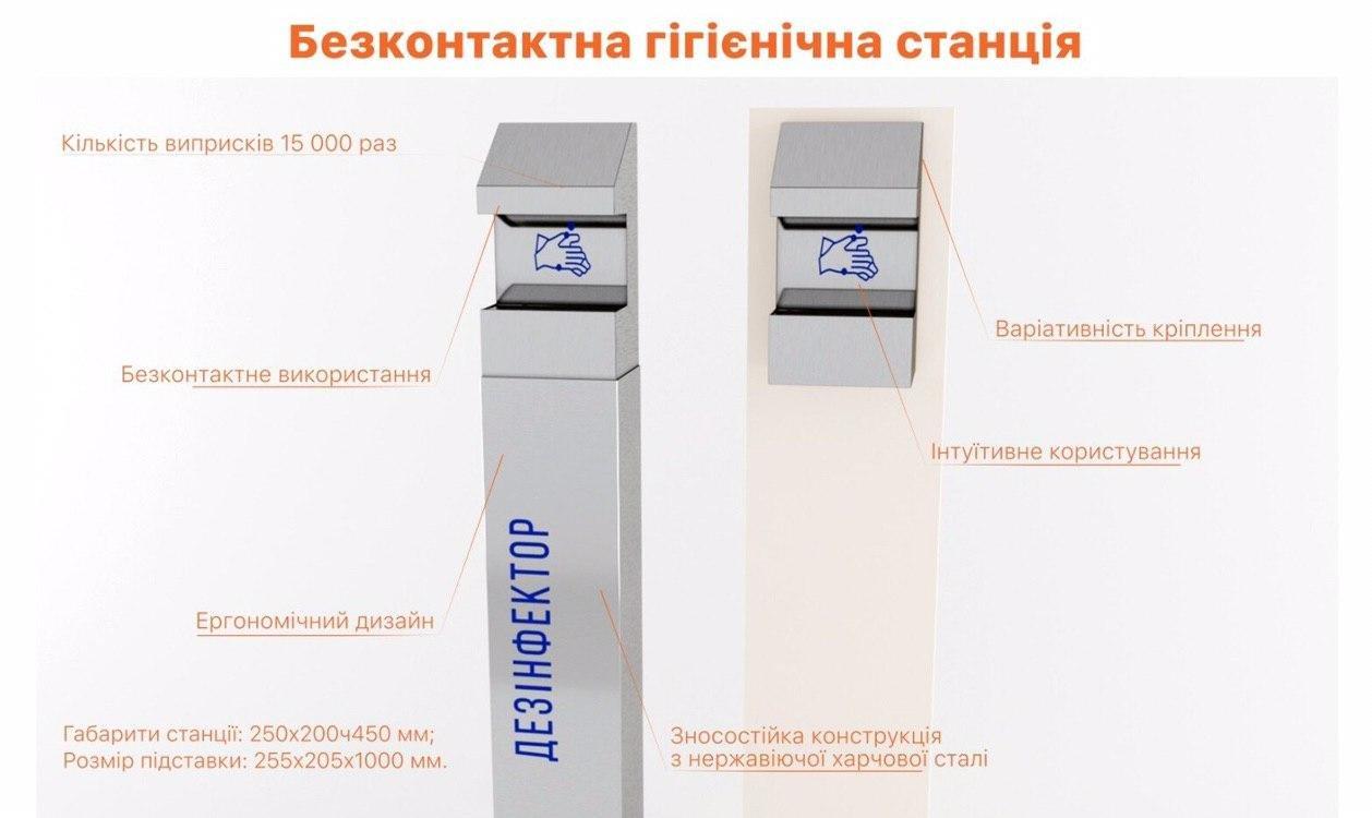 Сумські благодійники закупили для лікарень 6 безконтактних гігієнічних станцій, фото-1