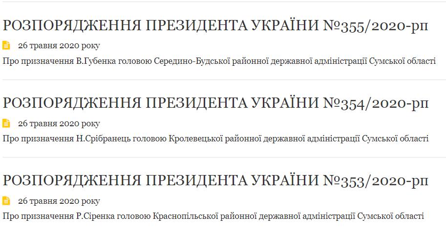 Зеленський призначив трьох голів РДА на Сумщині, фото-1