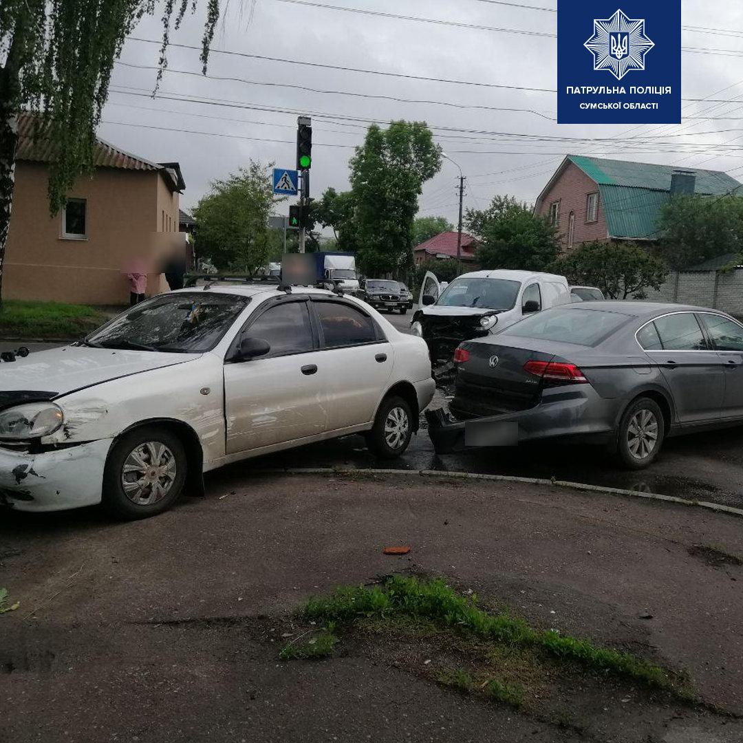 Патрульні розповіли подробиці потрійної ДТП у Сумах , фото-2
