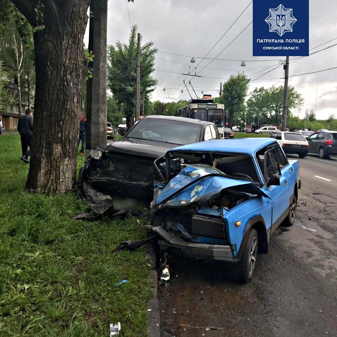 В ДТП в Сумах постраждав водій та пасажир, фото-1