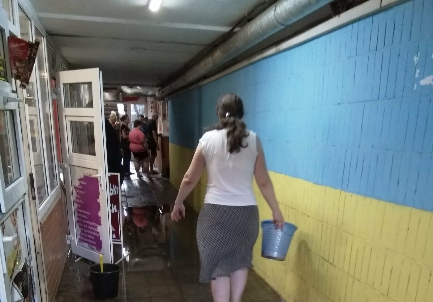 У Сумах затопило гарячою водою підземний перехід на СКД, фото-1