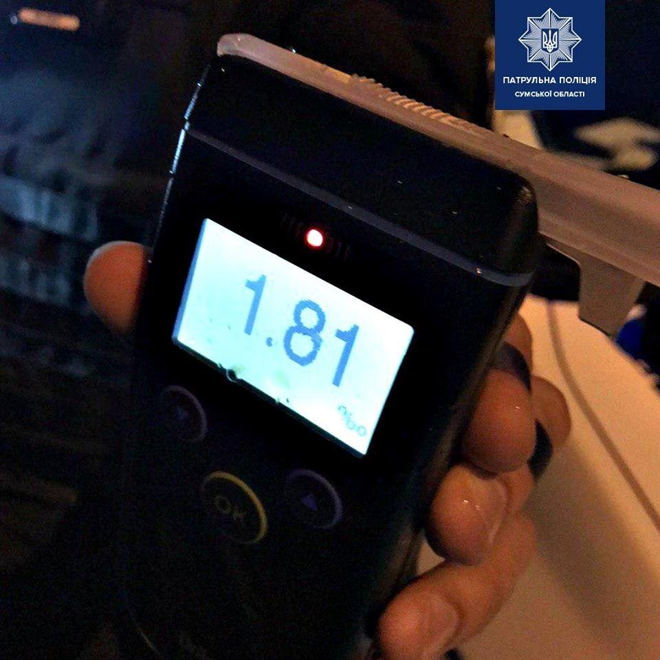 """У Сумах п'яний водій пропонував патрульним """"вирішити"""" питання без складання протоколу, фото-1"""