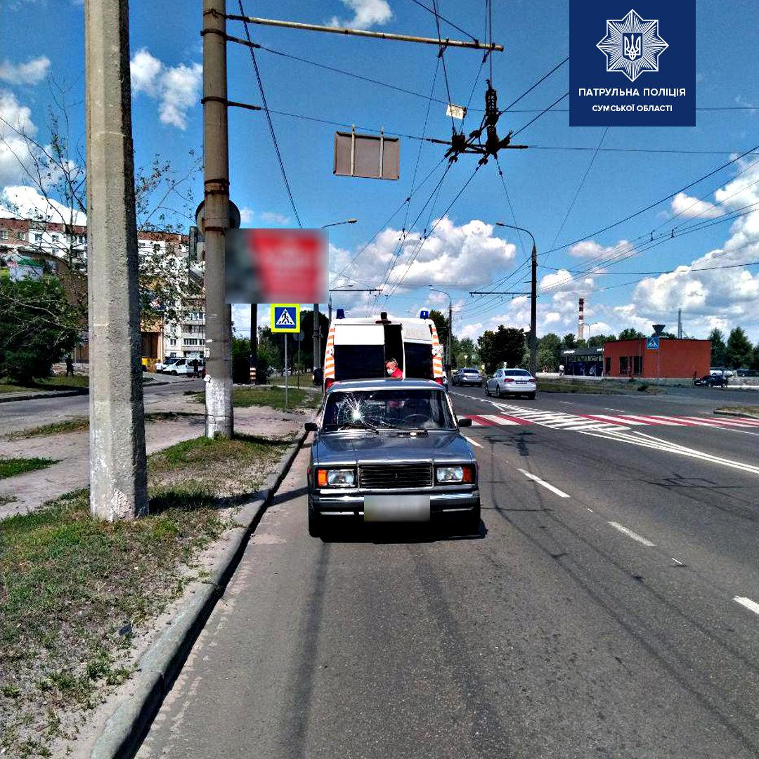 У Сумах 71-річний водій на переході збив пешехода , фото-2