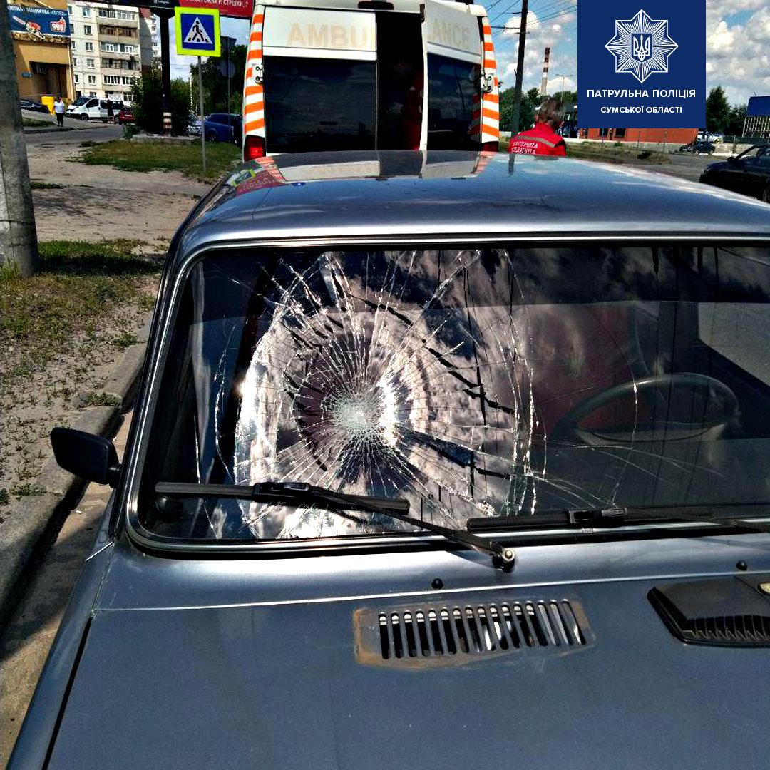 У Сумах 71-річний водій на переході збив пешехода , фото-1