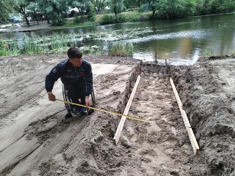 У Сумах для людей з інвалідністю будують річковий пандус, фото-4