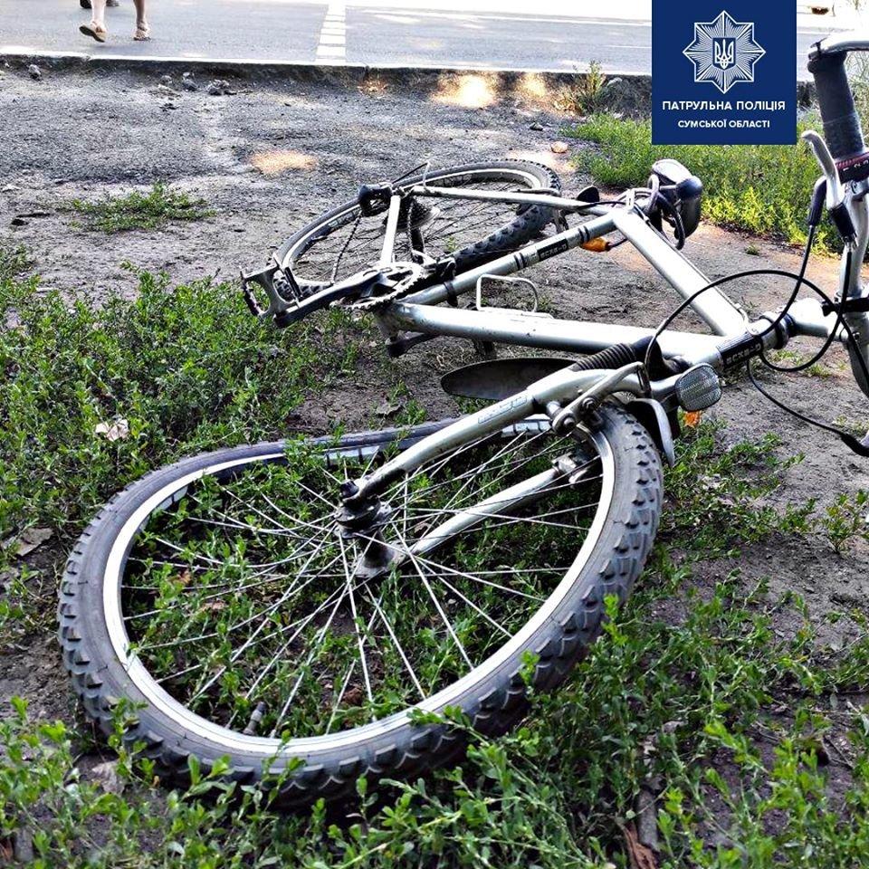 ДТП у Сумах: під колеса авто потрапив підліток на велосипеді, фото-1