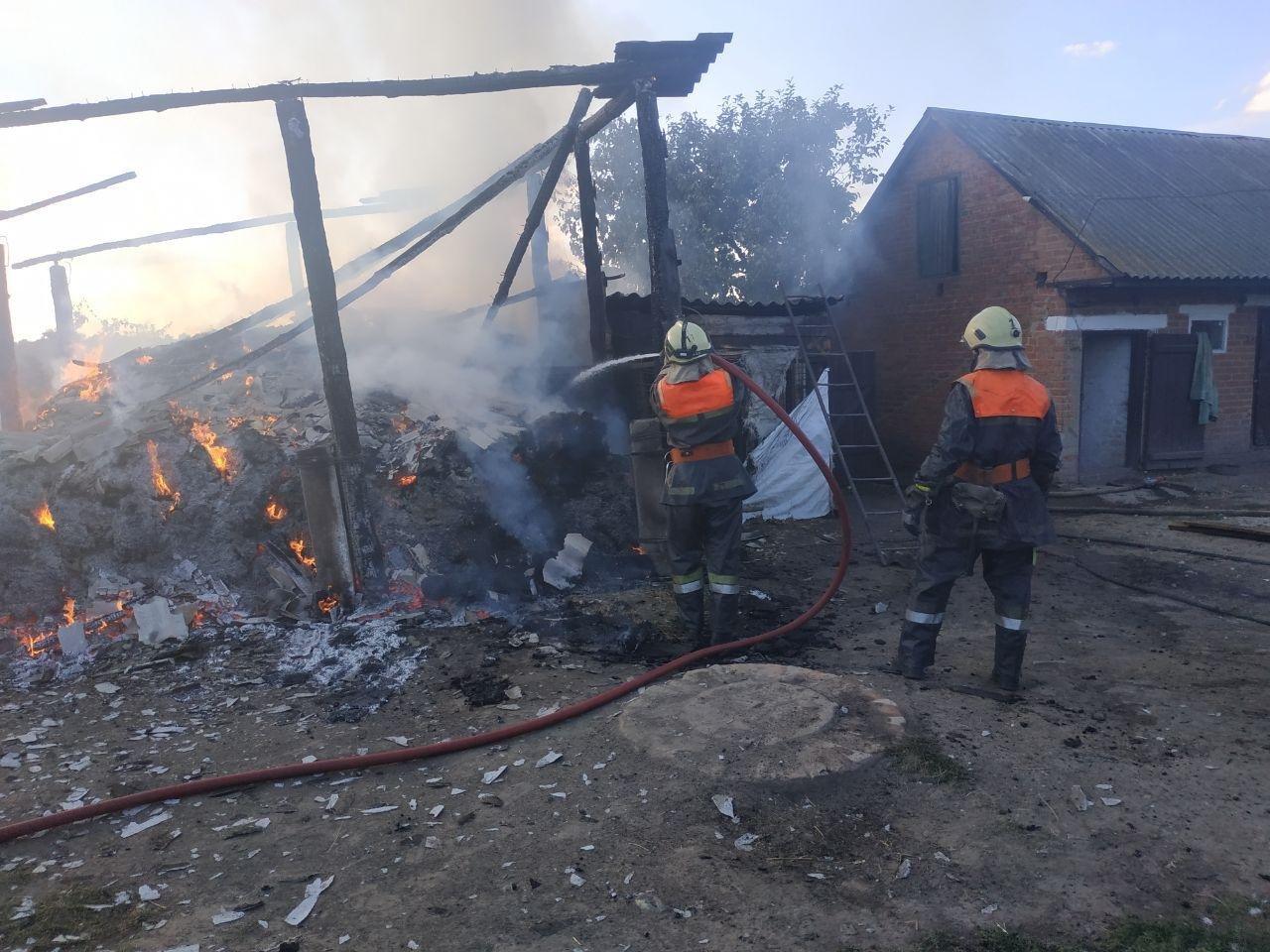 На Сумщині під час пожежі постраждав чоловік, фото-1