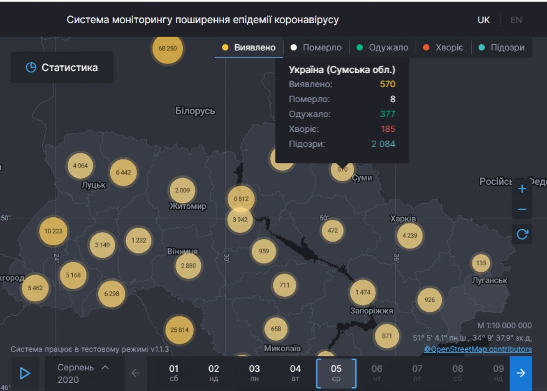 За минулу добу Covid-19 підтвердили у 10 жителів Сумщини, фото-1