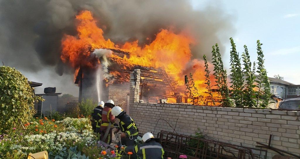 На Сумщині на пожежі постраждав чоловік, фото-1