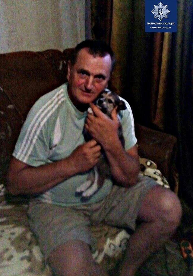 У Сумах патрульні допомогли цуценяті, якого викинули з автівки, знайти домівку, фото-3