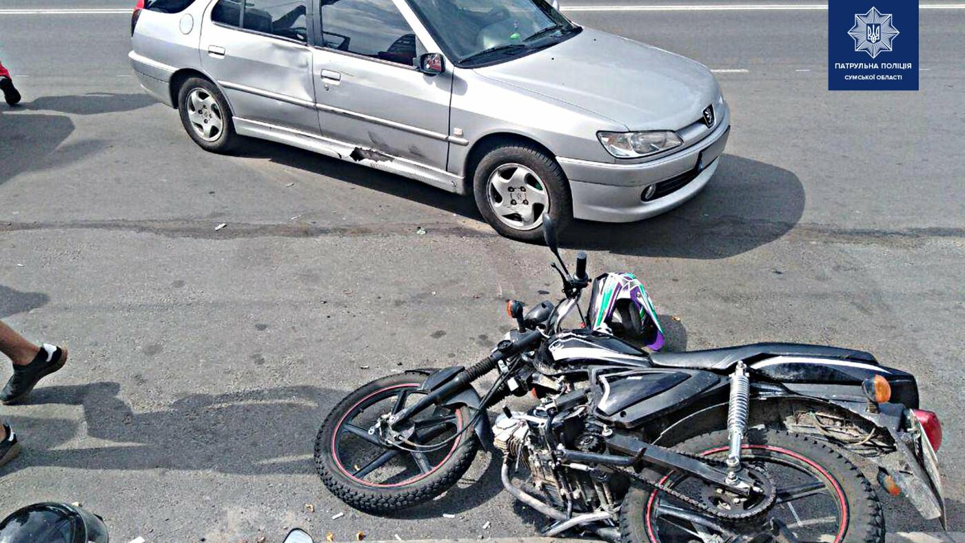У Сумах в ДТП постраждав 17-річний мотоцикліст, фото-1