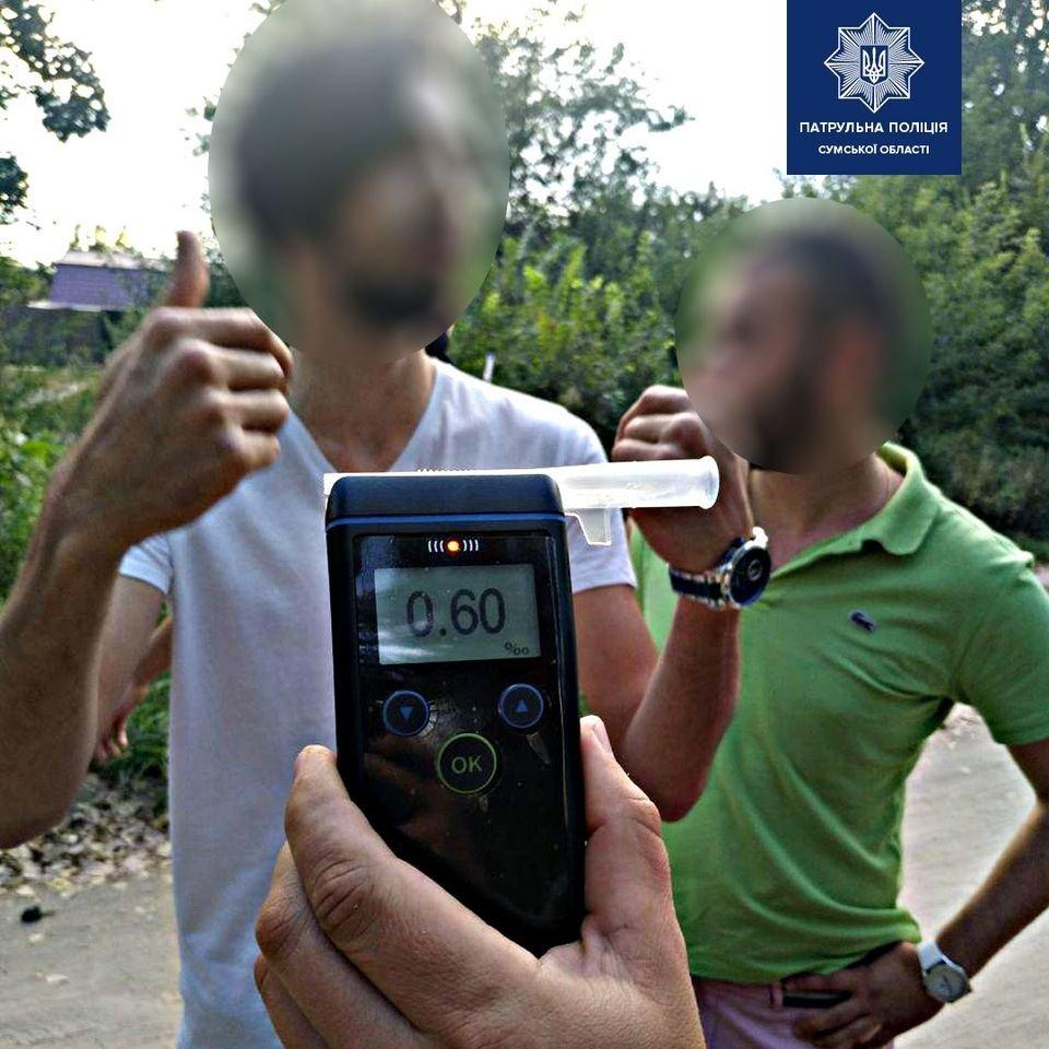 У Сумах  за кермом автівки виявили іноземця з ознаками сп'яніння, фото-1