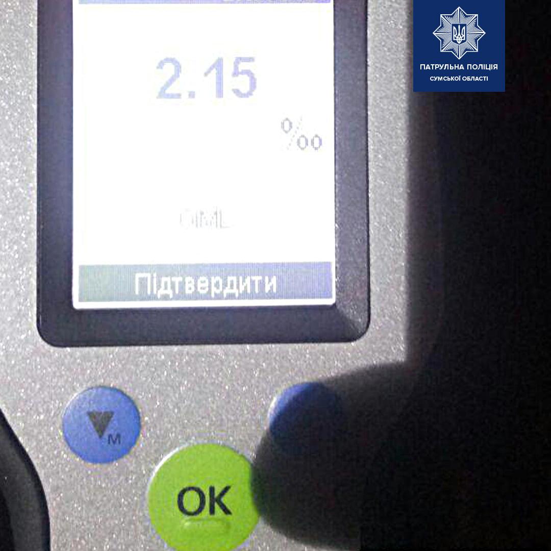 У Сумах затримали водія, який втрете за рік сів п'яним за кермо, фото-1