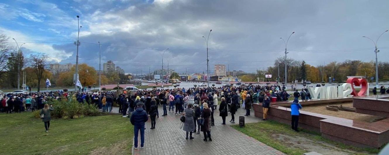 У Сумах підприємці перекрили одну з центральних вулиць: протестують проти карантинних обмежень, фото-1