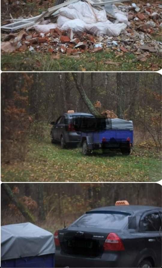 На Сумщині Екоінспекція оштрафувала таксиста за засмічення лісосмуги, фото-1