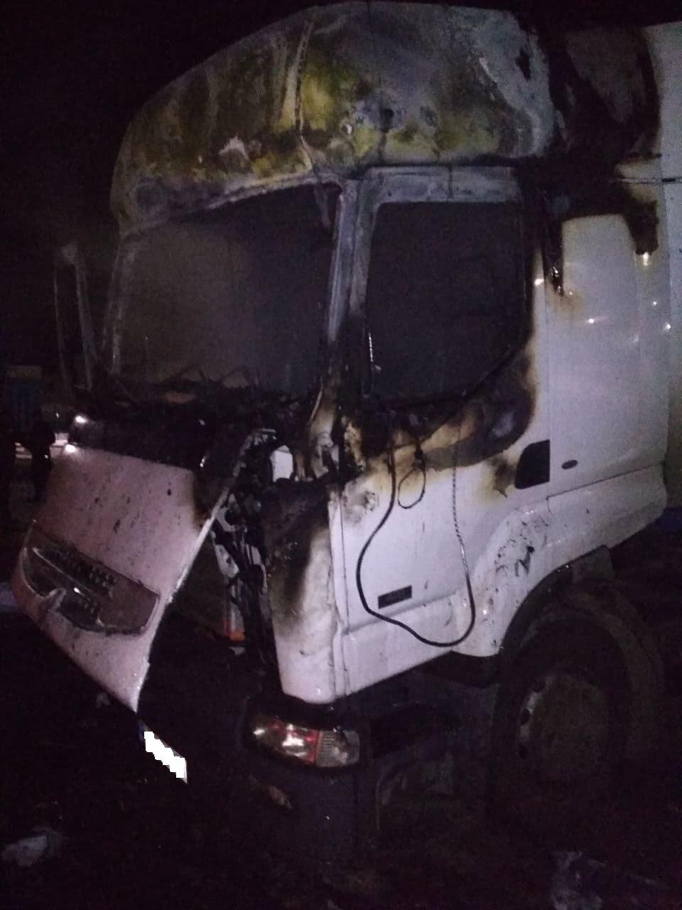 На Сумщині горіла вантажівка з кукурудзою, фото-1