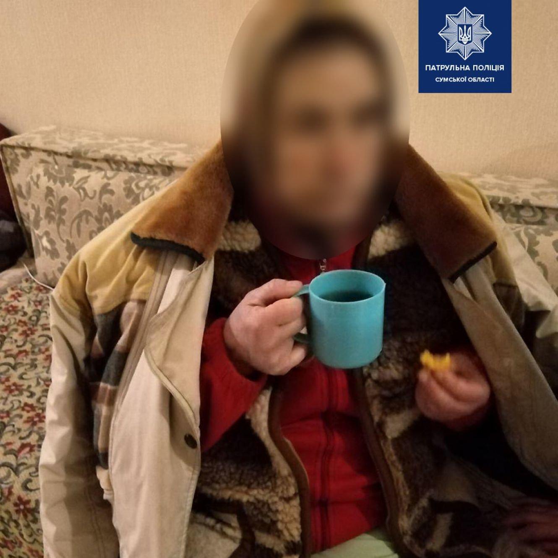 Завдяки небайдужим громадянам сумські патрульні повернули до пансіонату літню жінку, фото-1
