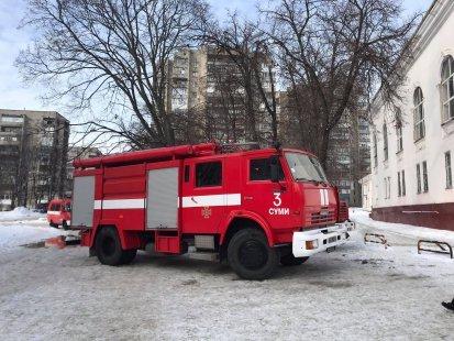 У Сумах сталася пожежа в Палаці культури «Сумського НВО», фото-1