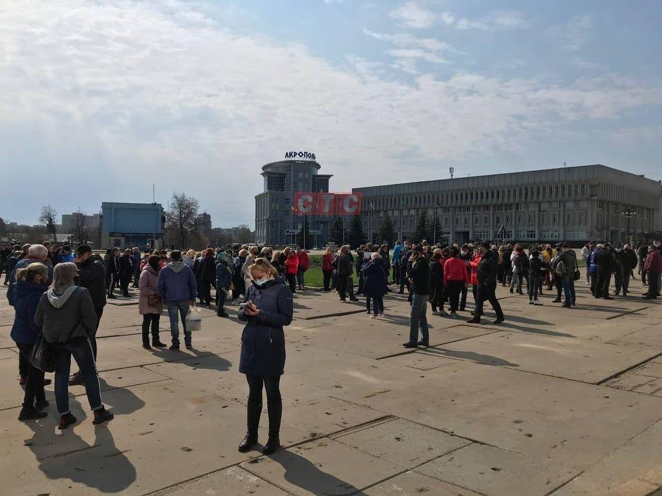 Сумські підприємці чекають під міськрадою на рішення обласної комісії ТЕБ та НС , фото-2
