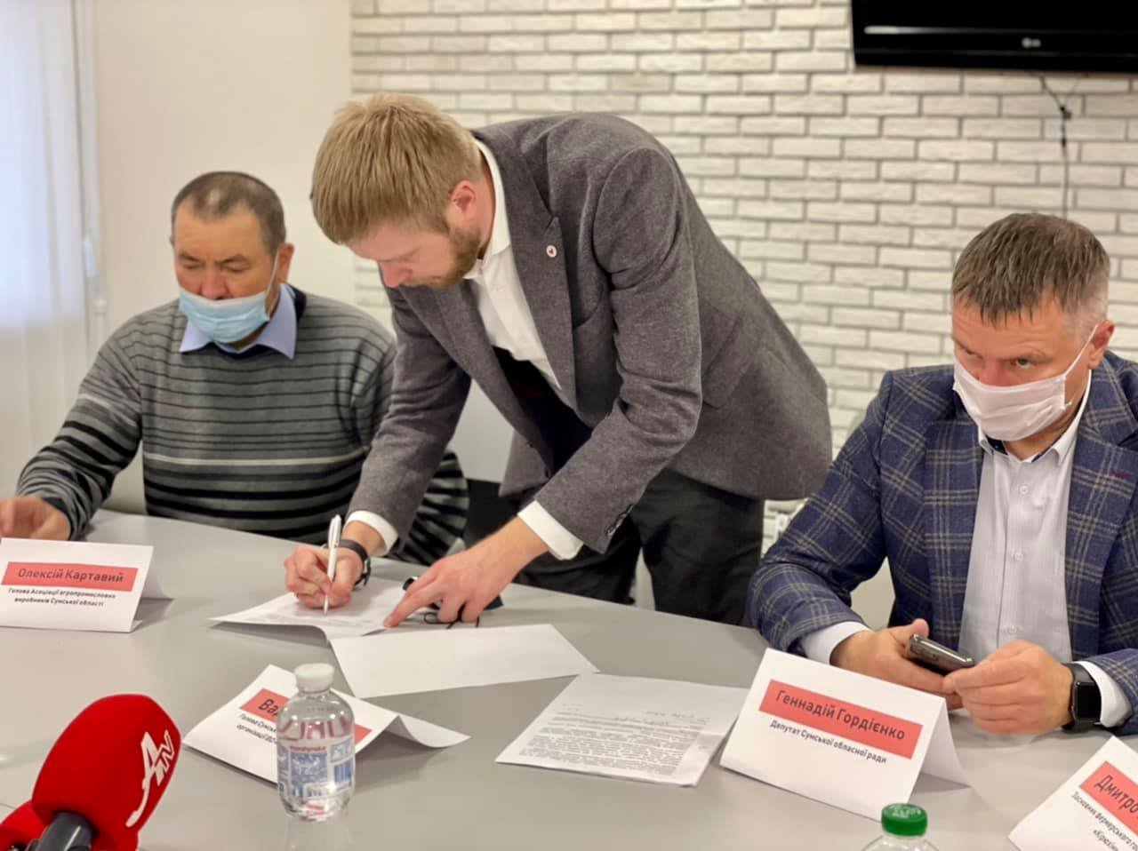 «Ні продажу української землі»: аграрії, фермери, землевласники Сумщини та депутати підписали резолюцію , фото-8