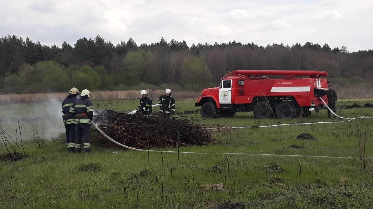 На Сумщині рятувальники спільно з лісниками ліквідували умовну пожежу лісового масиву, фото-3
