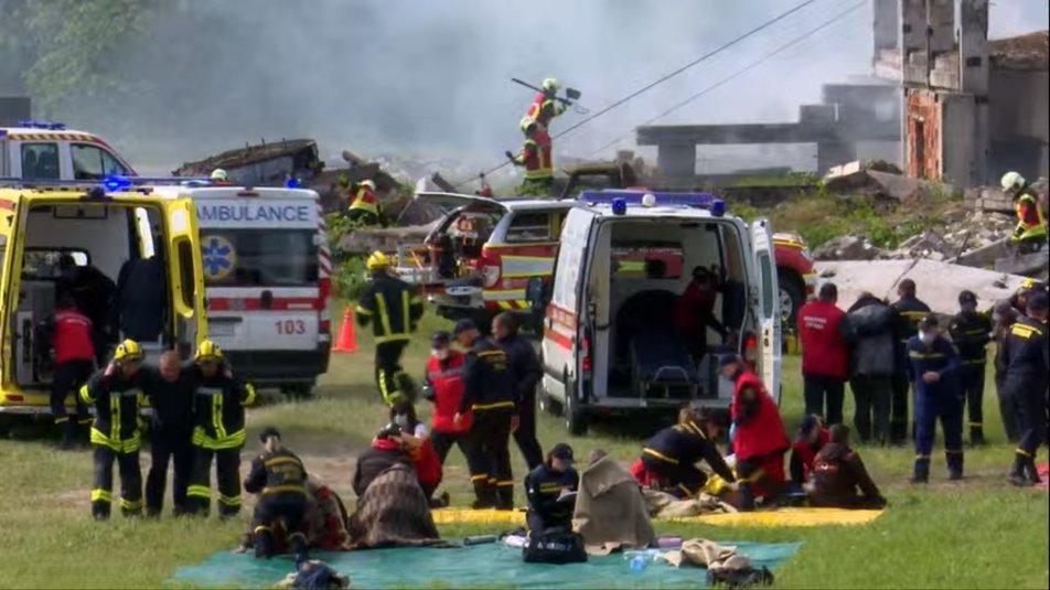 Пожежі, вибухи та травмовані: на Сумщині проводять масштабні навчання ДСНС, фото-1